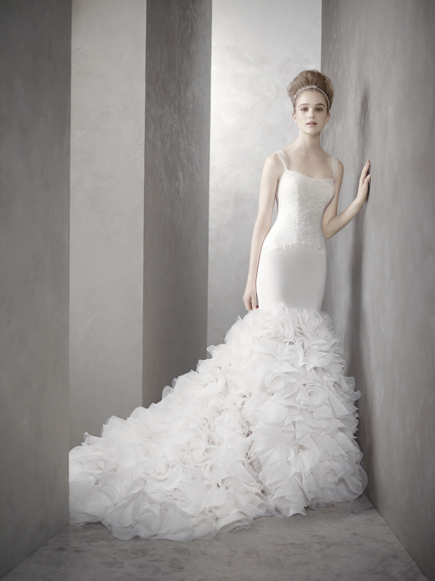 White by vera wang wedding dress style inspired by kim for Dress of wedding style