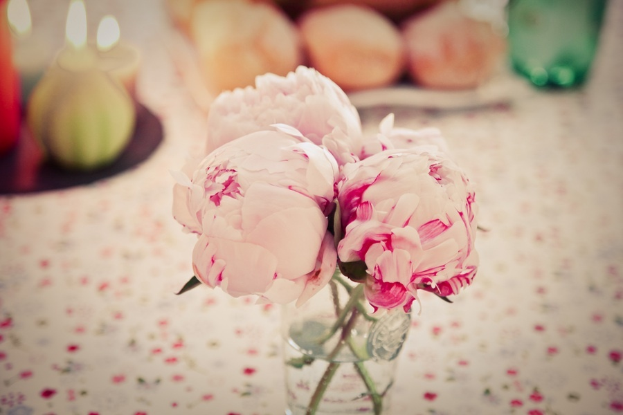 Romantic peony wedding centerpieces
