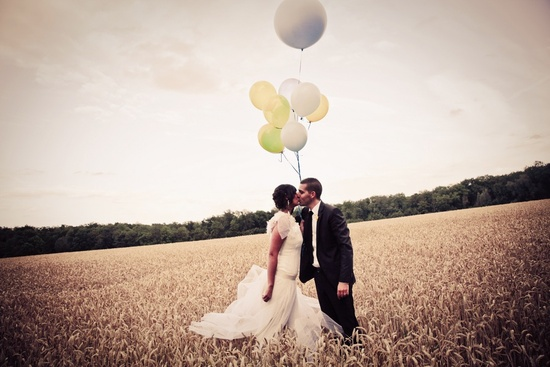 Romantic wedding photo