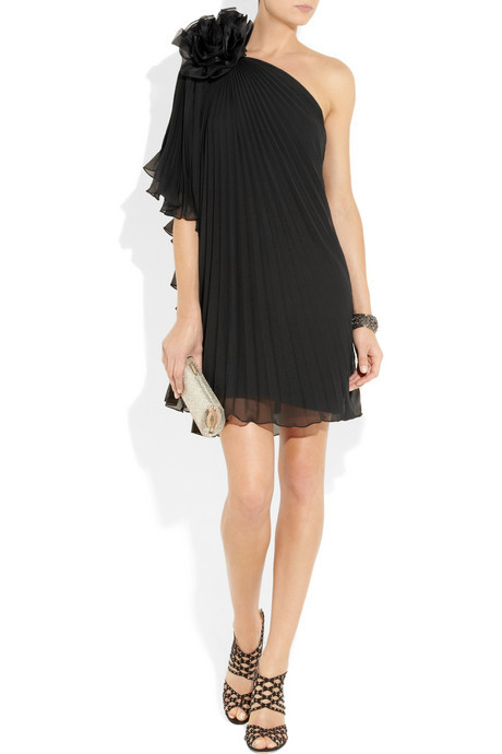 photo of Notte by Marchesa black bridesmaid dress via Net-a-Porter
