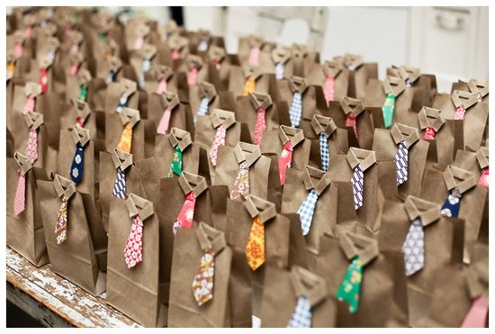 Wedding Favor Bags With Origami Diy Ties