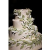 Elegant-real-wedding-reception-wedding-cake-fall-leaf-pattern.square