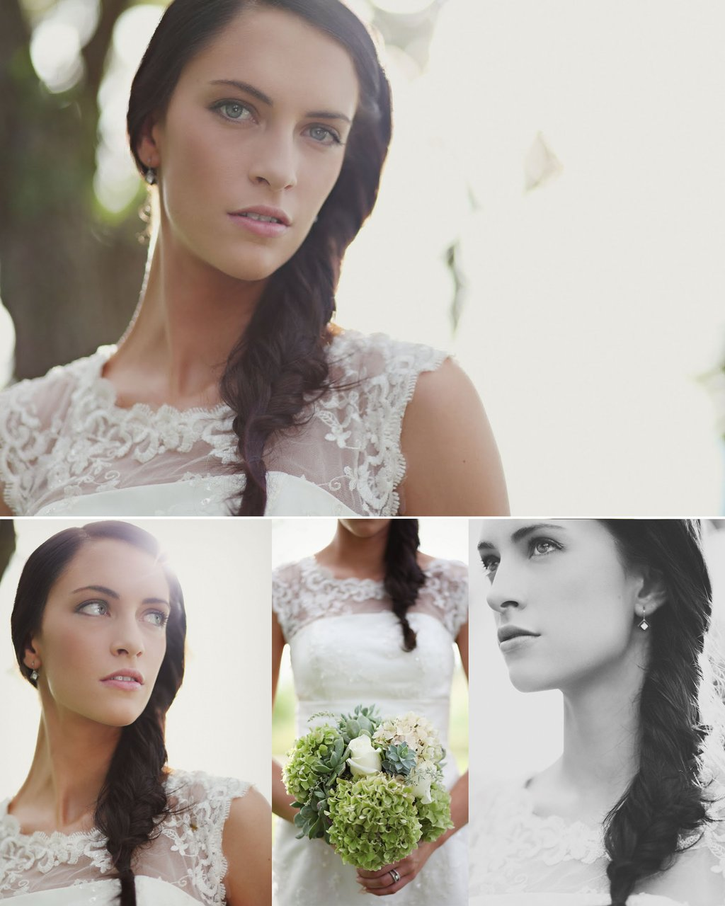 DIY wedding hairstyle for bohemian brides