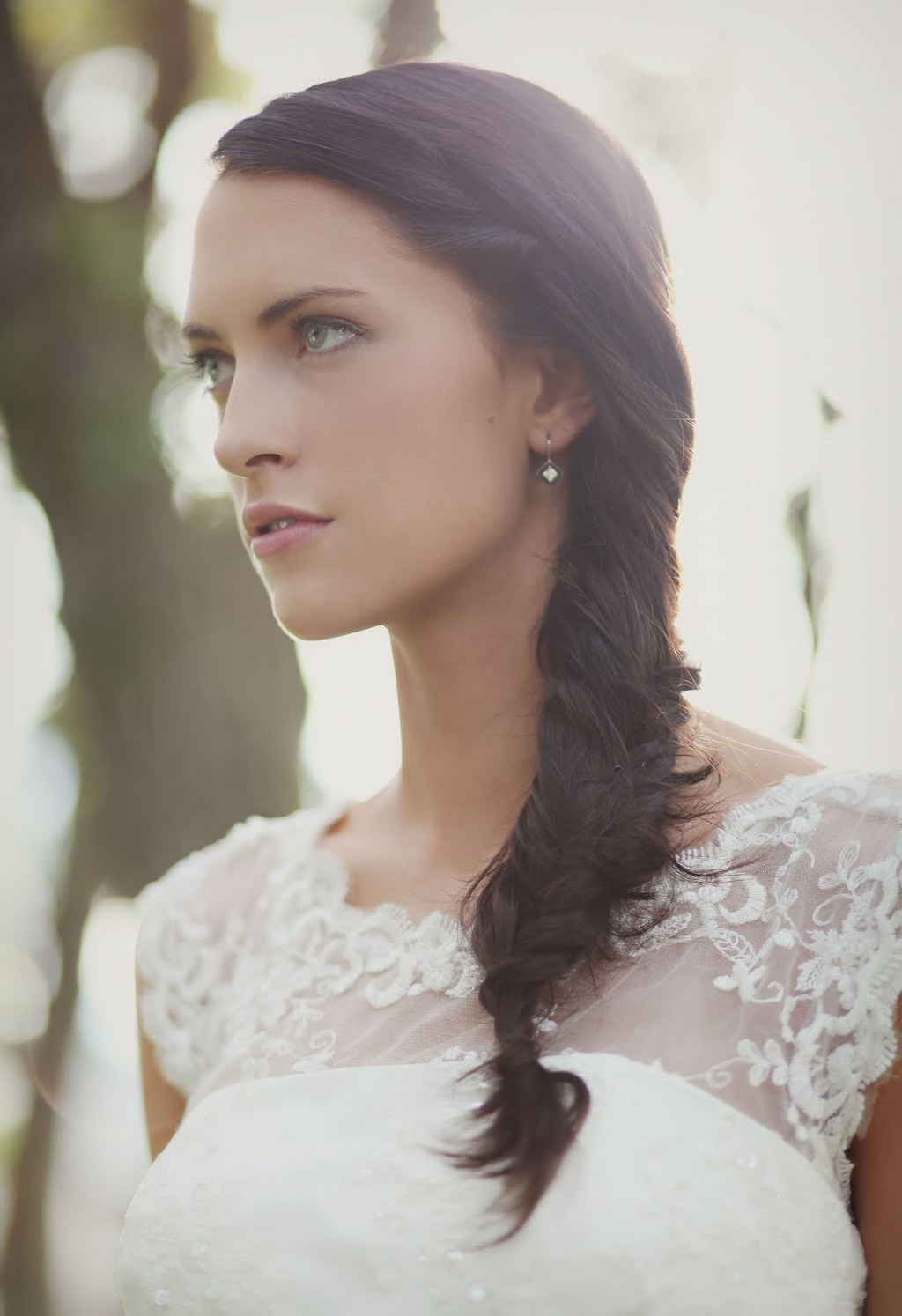 Enjoyable Bohemian Brides Loose Braid Wedding Hairstyle Hairstyles For Women Draintrainus