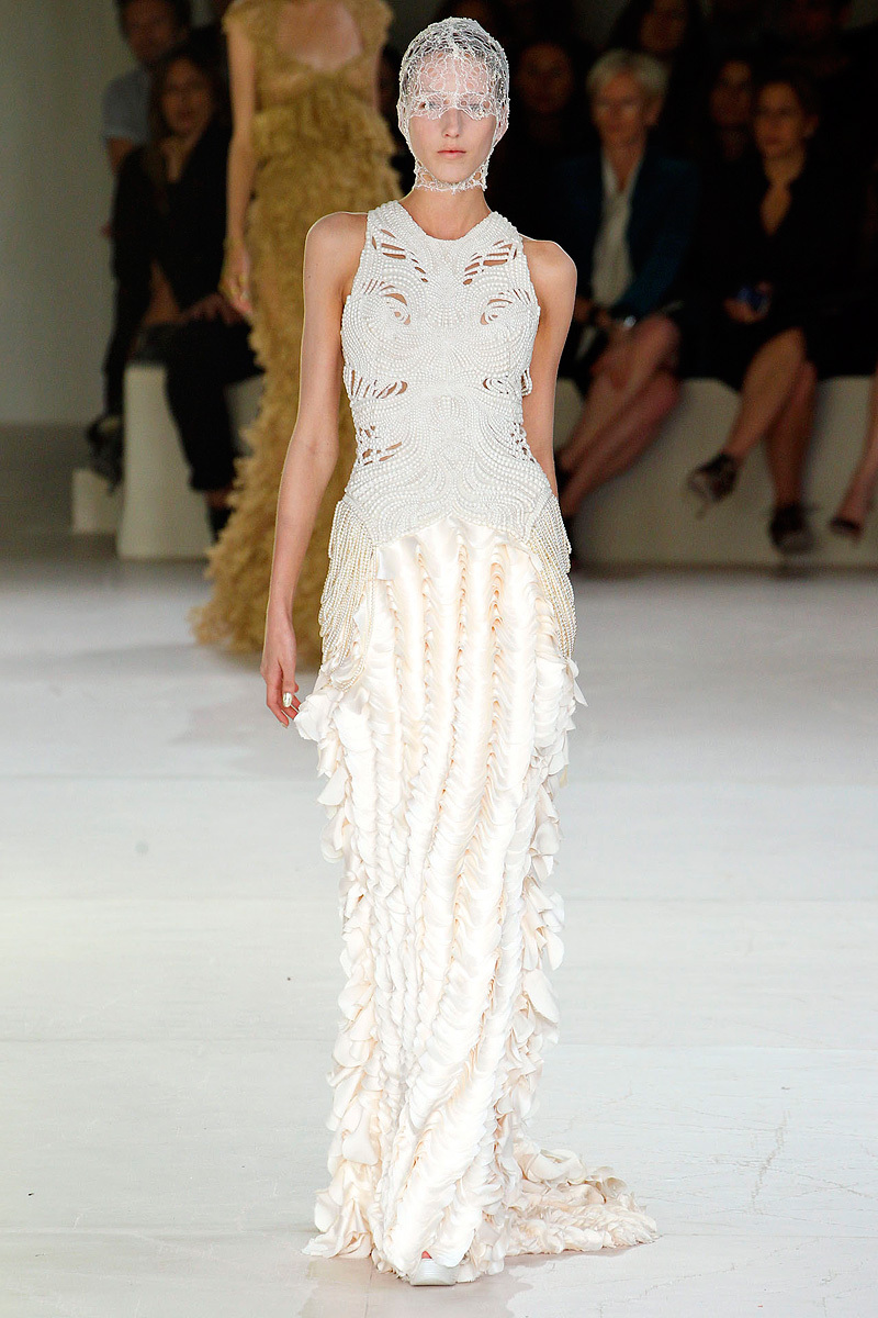 Alexander McQueen Spring 2012 dresses and reception frocks