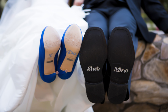 I do and She's Mine Wedding Shoe Stickers