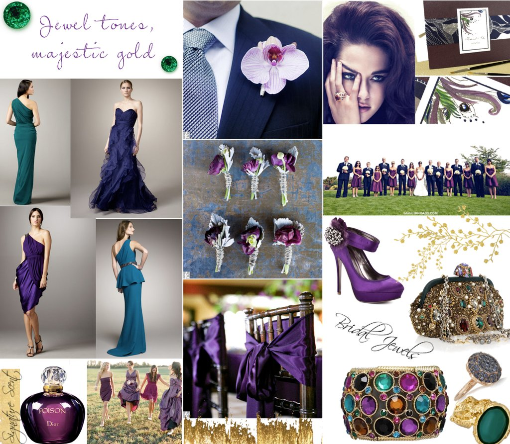 Jewel-toned-wedding-inspiration-bridesmaids-dresses-weddingshoes.full