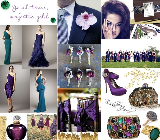 photo of Jewel Tones Get Gilded: Opulent Wedding Style