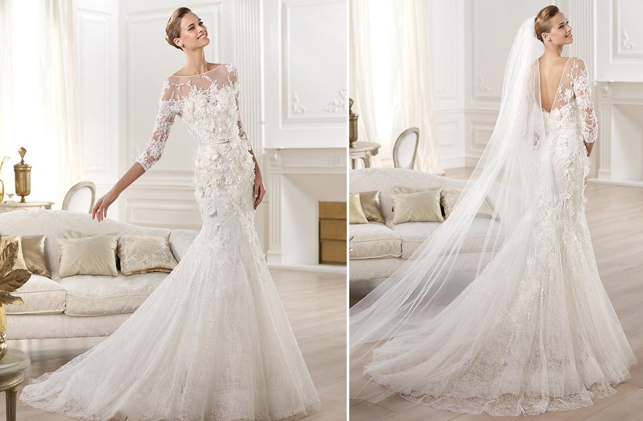 Wedding Dresses For Fall 2014 Pronovias Elie Saab