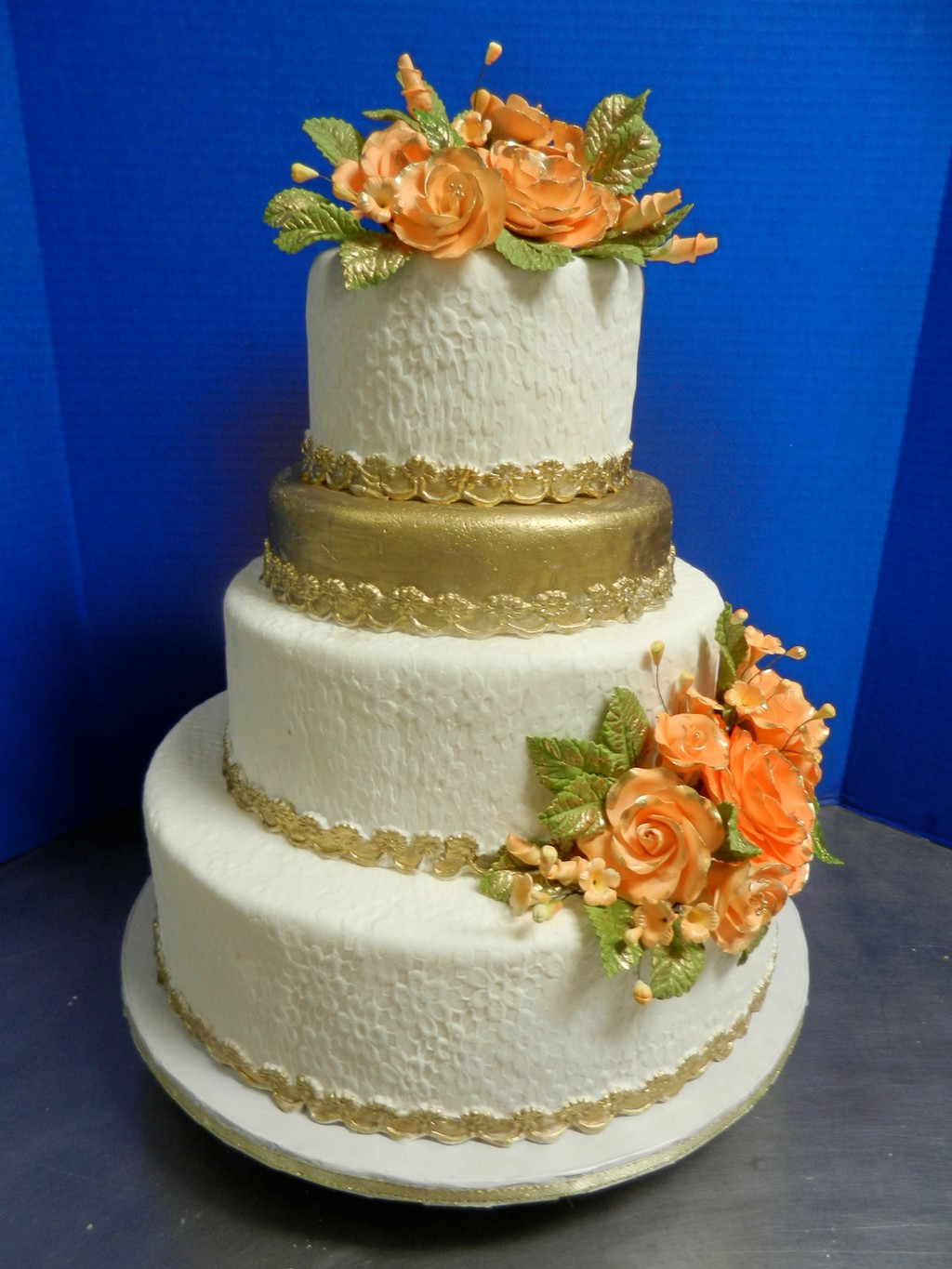 Classic Gold 4 Layer Cake