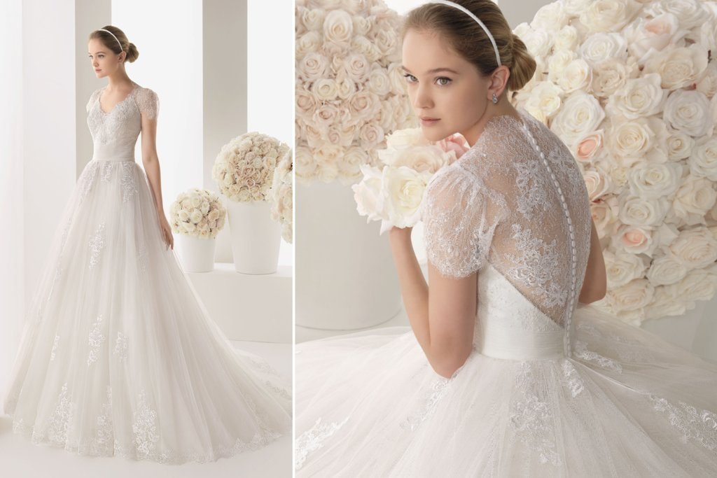 Lace Sleeved Wedding Dress