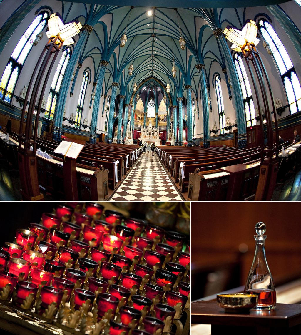 Traditional catholic church wedding venue