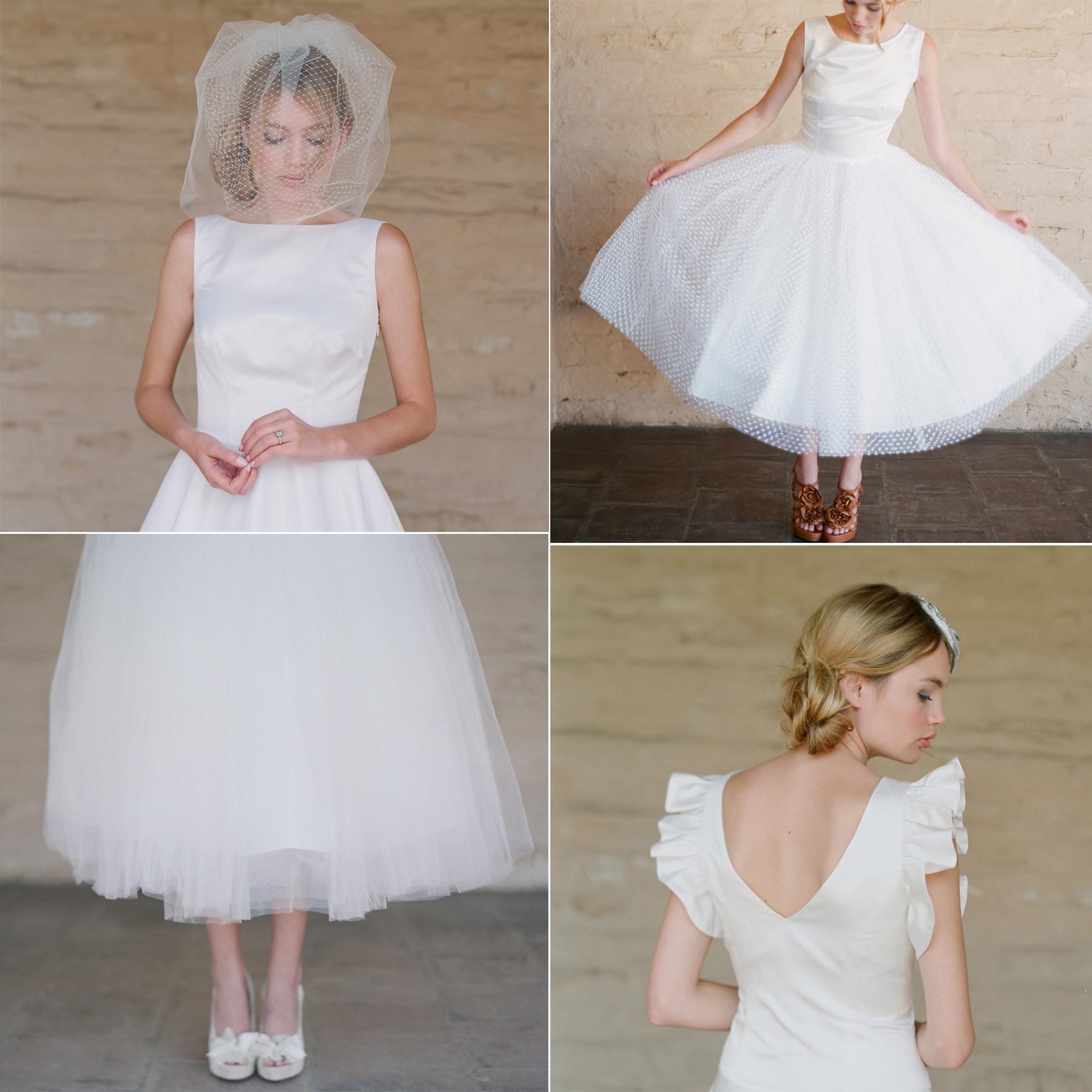 Tea Length Vintage Inspired Bridal Gowns