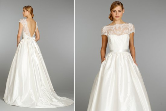 Tara Keely cap sleeved wedding dress