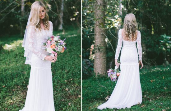 Lace sleeved wedding dress by Grace Loves Lace