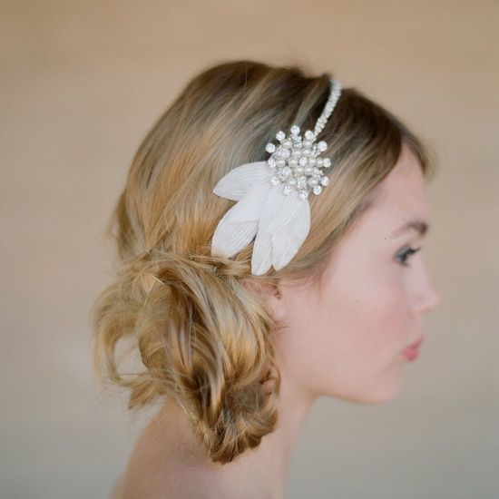 Delicate bridal headband