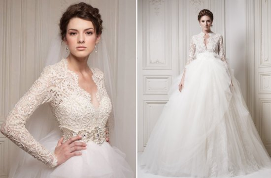 ersa atelier sleeved wedding dress