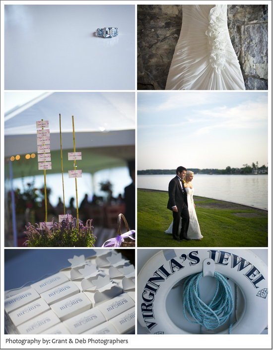 photo of Nautical-themed summer wedding on a boat wedding venue