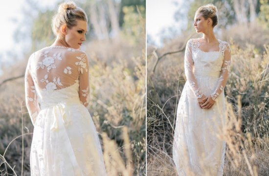 Sheer Sleeved Wedding Dress