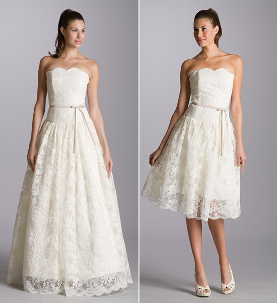 Lace wedding dress, lace reception frock