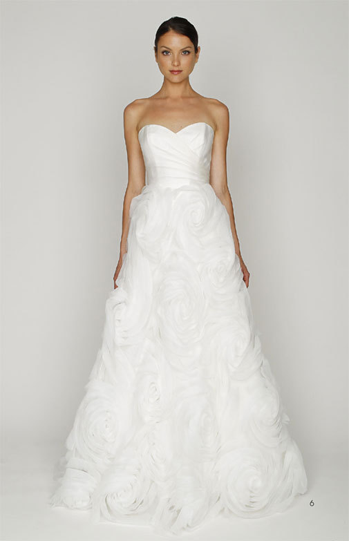photo of White wedding dress by Monique Lhuillier, budget-friendly bridal gown