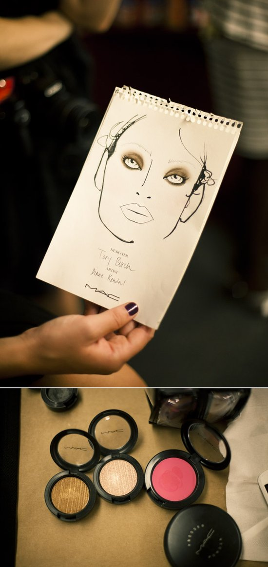 Dramatic smokey eyes bridal beauty inspiration from Tory Burch