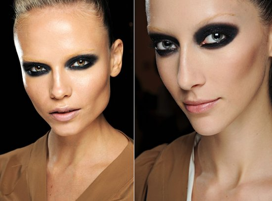 Dark, dramatic smokey eyes seen at Gucci