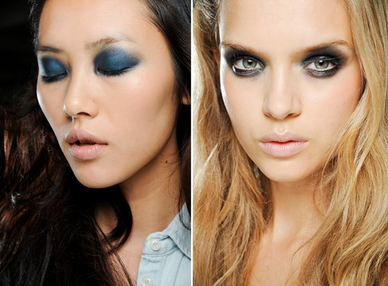 Dramatic smokey eyes at Rodarte, Spring 2012 RTW
