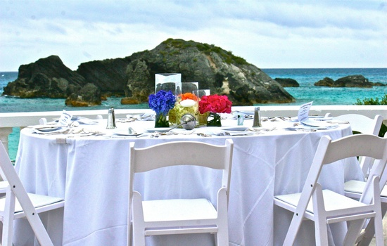 Destination wedding reception in Bermuda