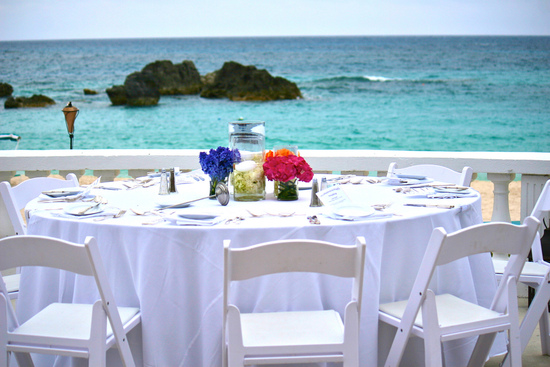 Destination Weddings in Bermuda - Reception on the water