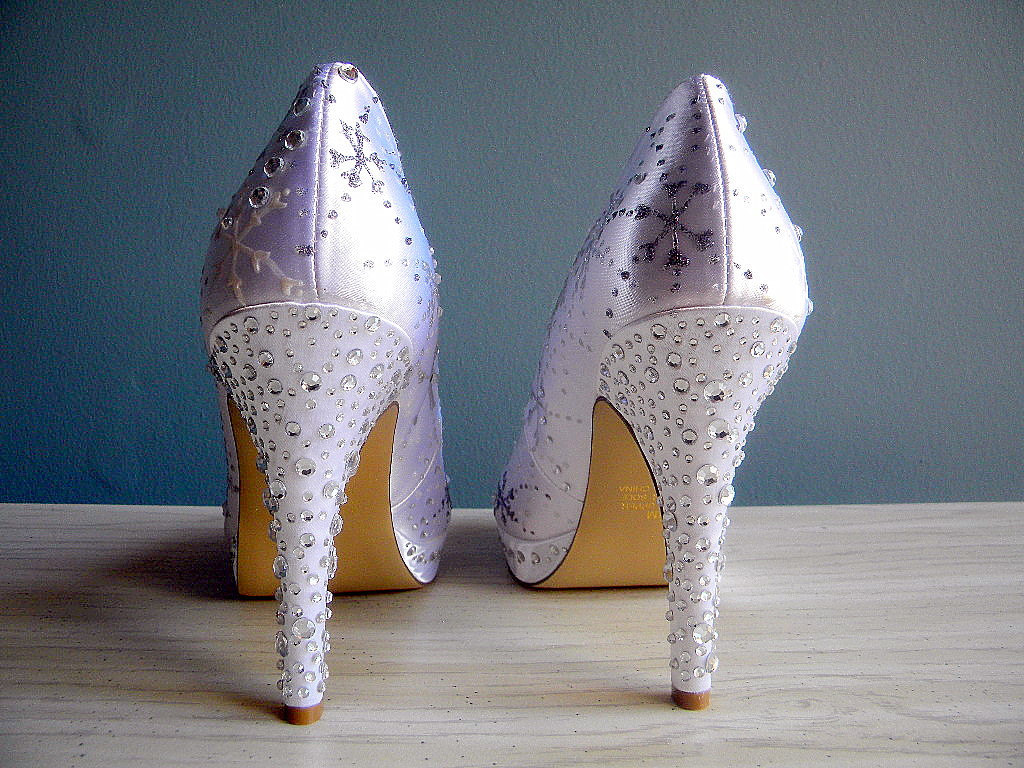 WInter wedding accessories- embellished wedding shoes