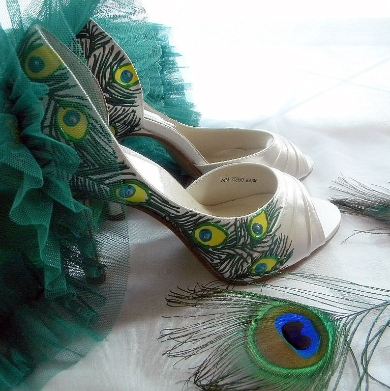 Handpainted-wedding-shoes-peep-toe-etsy.full