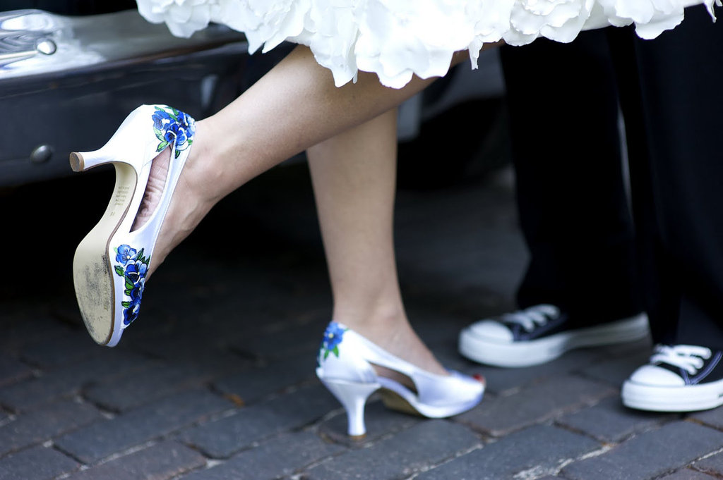 Classy White wedding shoes