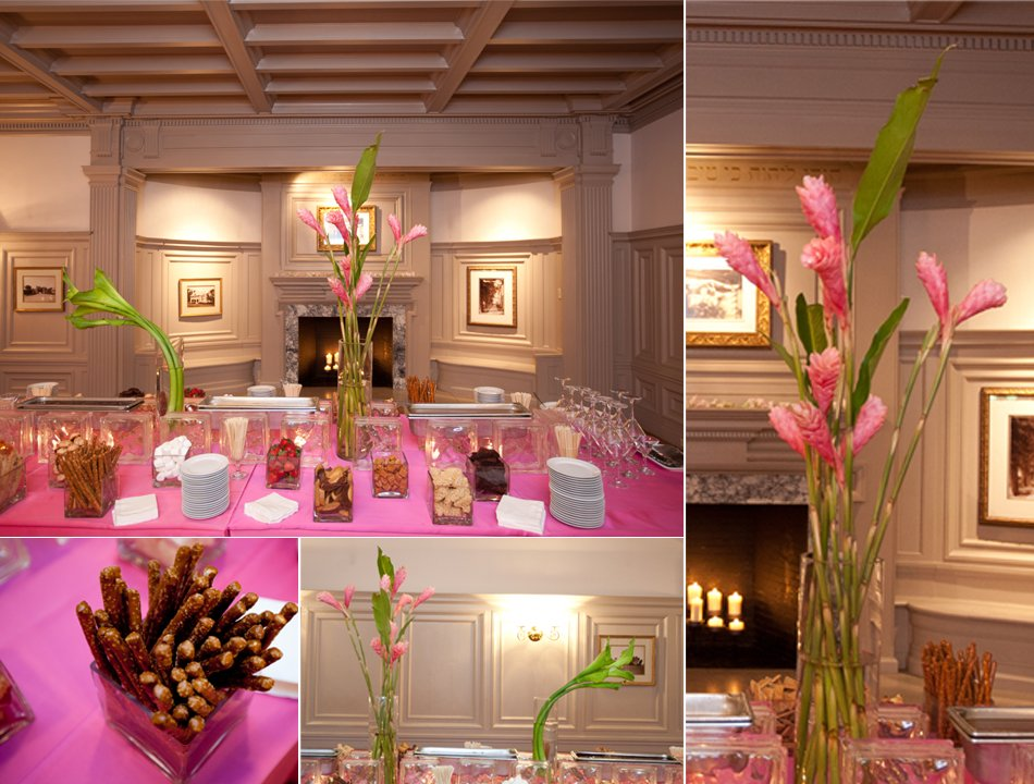 Hot Pink And Celery Green Wedding Reception Decor