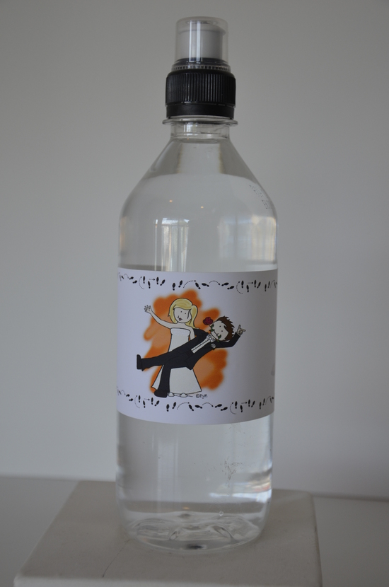 Water Bottle Labels Dance Wedding