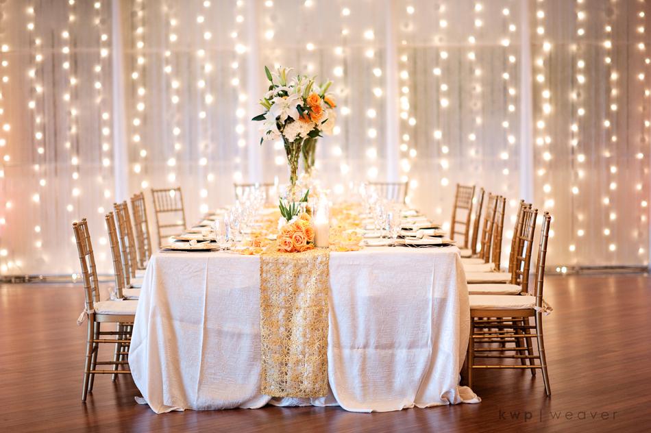 Elegant Wedding Reception Decor For Fall Beach Wedding In Florida