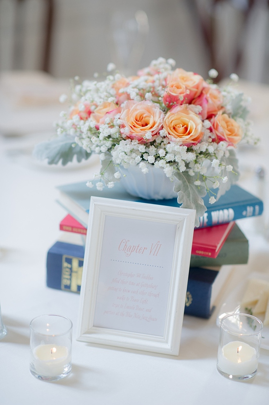 Table Number at Book Themed Wedding