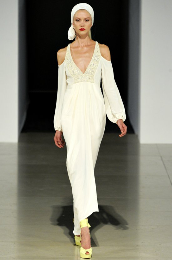 Vintage-inspired sleeved wedding dress by Temperley London