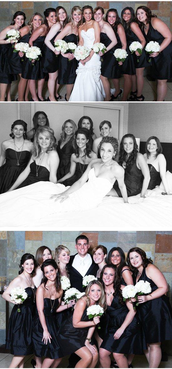 photo of Elegant Black and White Military Wedding in Virginia