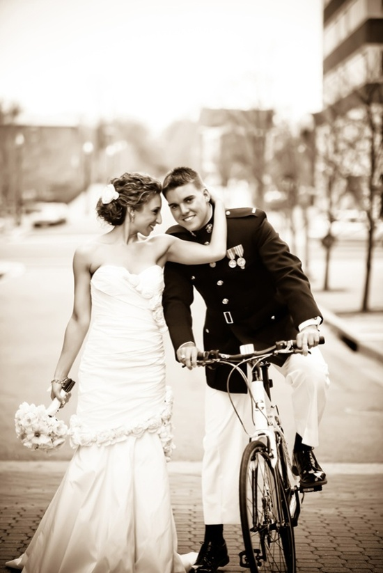 photo of Elegant Black and White Military Wedding in Virginia