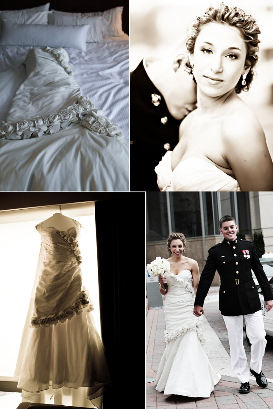 Jewish bride wears elegant ivory mermaid wedding dress for Winter mermaid wedding dresses