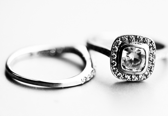 Artistic engagement ring wedding photo