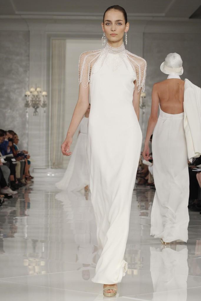 White beach wedding dress with beaded sleeves for White wedding dresses with sleeves