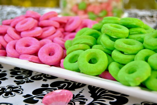 Pink and Green Wedding Candy Cookies