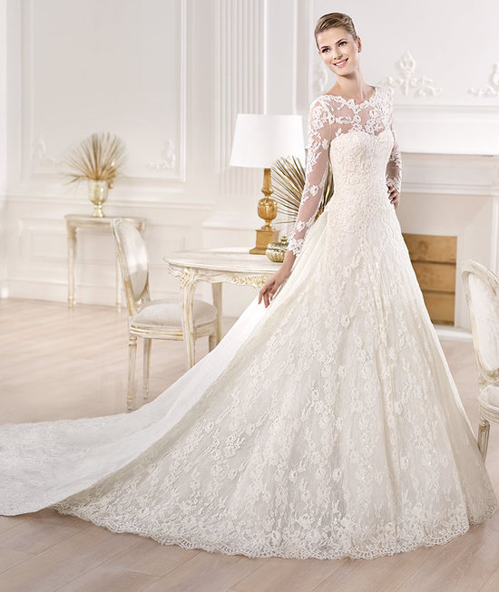 Classic Lace Sleeves Wedding Dress