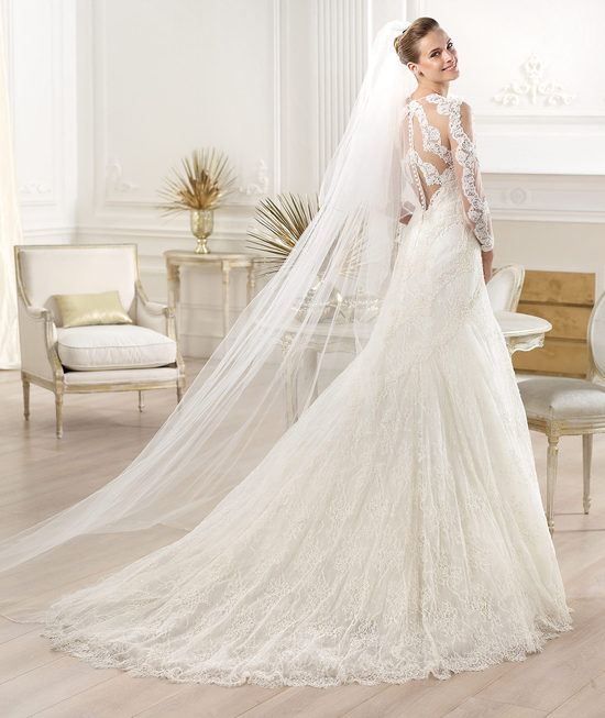 Lace wedding dress by Atelier Pronovias 2014 bridal Yana