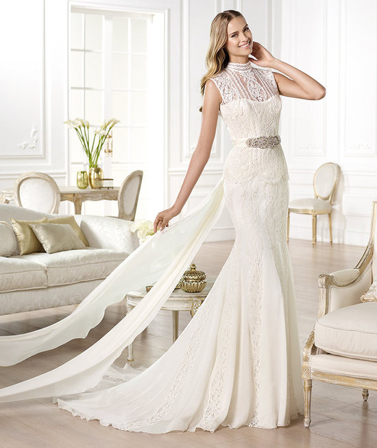 Statement Neckline Wedding Dress
