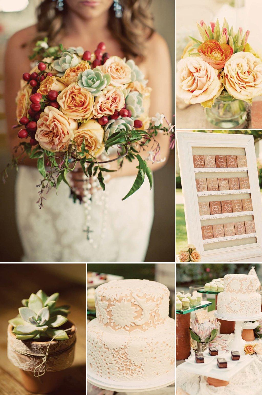 Fall Vintage Wedding Color Palette