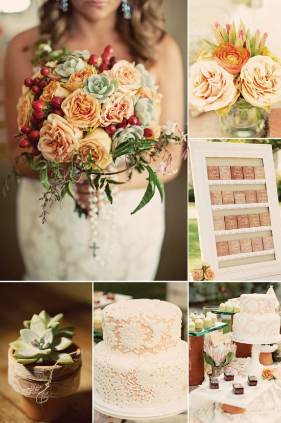Fall Vintage Wedding Color Palette