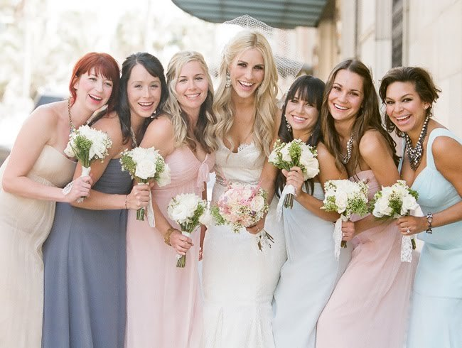 Pastel mix and match bridesmaids dressesmix and match bridesmaids dresses. Destination Wedding Bridesmaids Dresses. Home Design Ideas